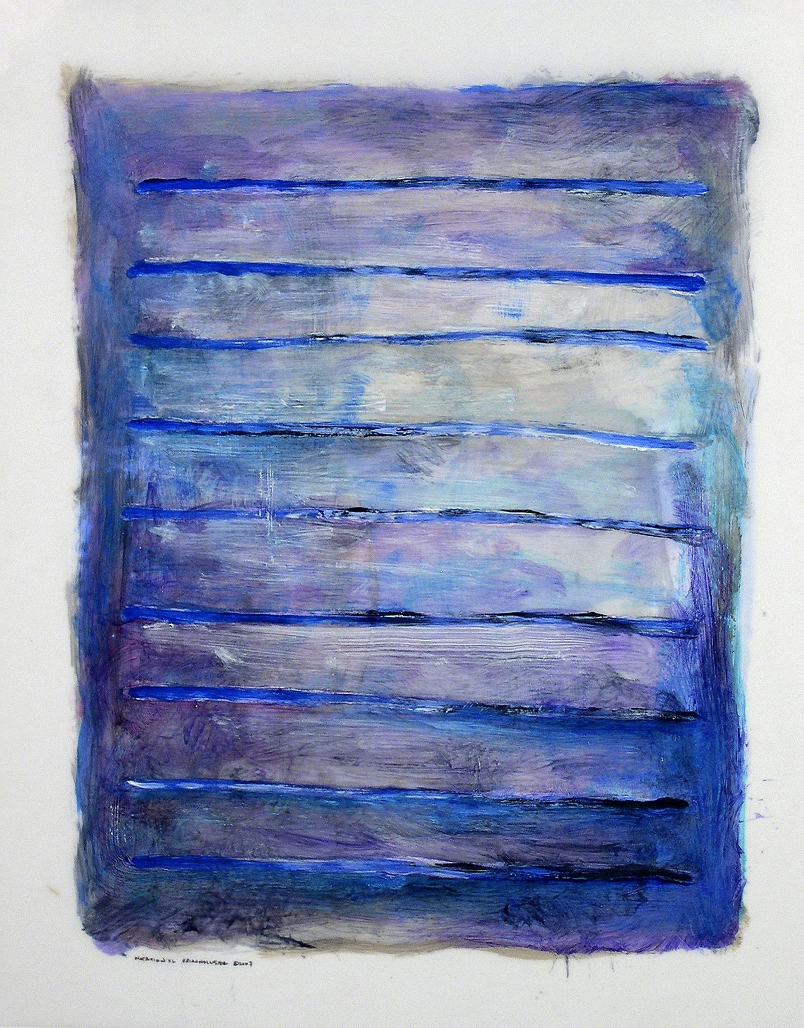 Brian Hollister, Notation XL (40) 2007, Oil on synthetic paper