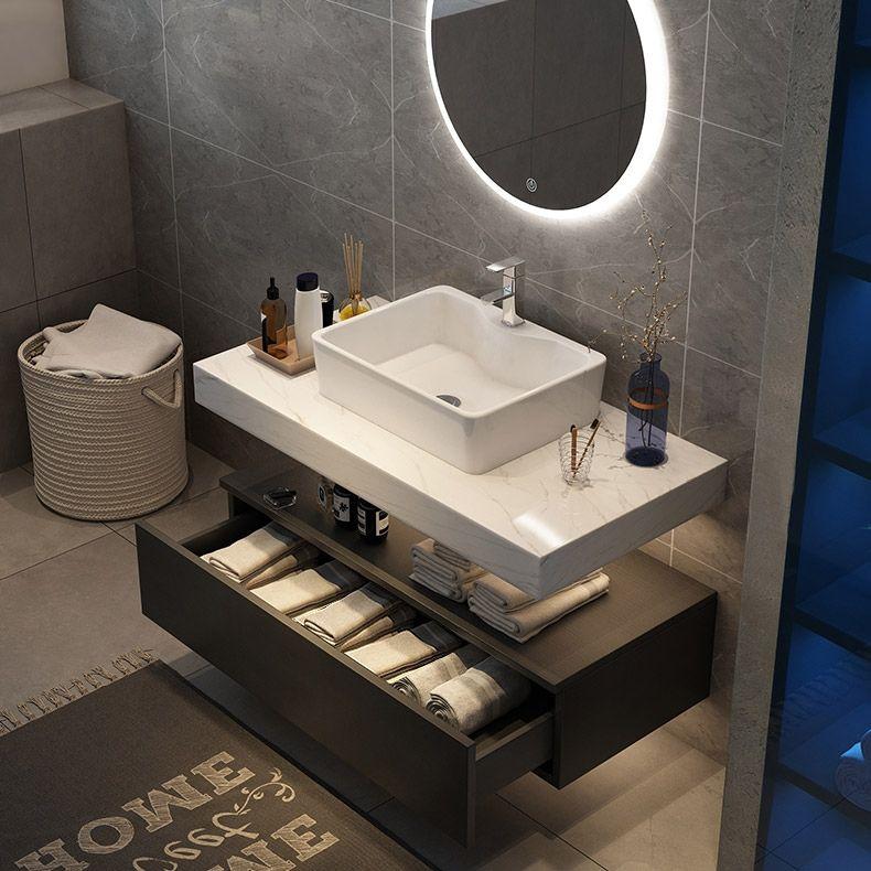 10+ Floating bathroom vanity with vessel sink ideas