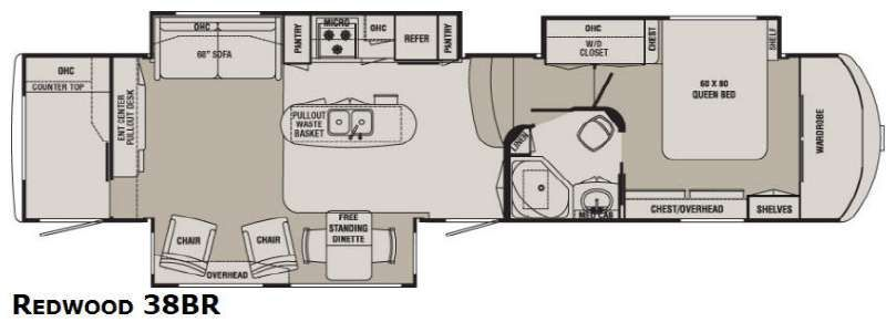 5th wheel floor plans with rear kitchen google search for Small bunkhouse floor plans