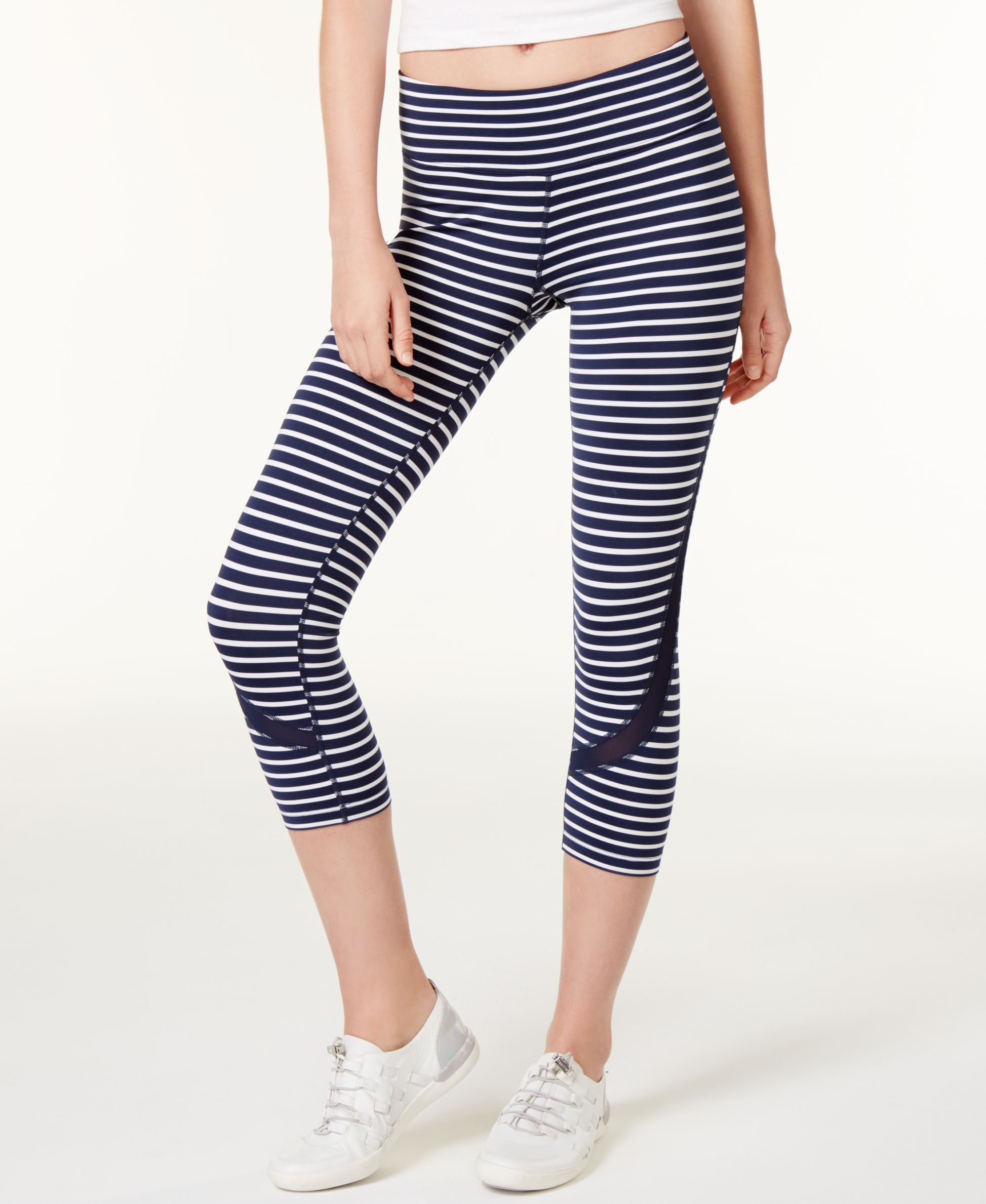 6934ff33a70ea Calvin Klein Performance Mesh-Trim Striped Cropped Leggings | Products