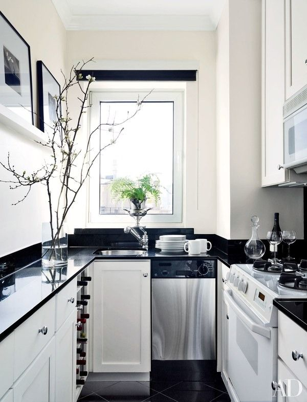 25 Black Countertops To Inspire Your Kitchen Renovation Galley Kitchen Design Black Kitchen Countertops Small Galley Kitchen Designs