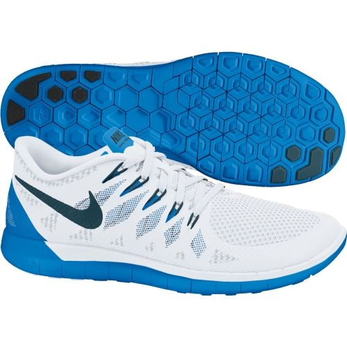 mens nike free 5.0 white blue
