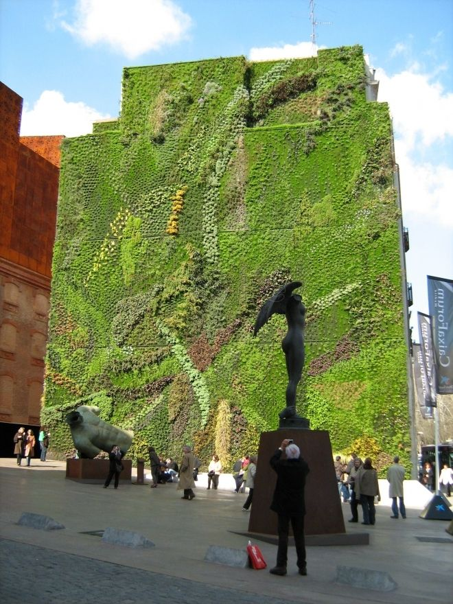 Jard n vertical madrid panorama mundial pinterest for Jardin vertical madrid