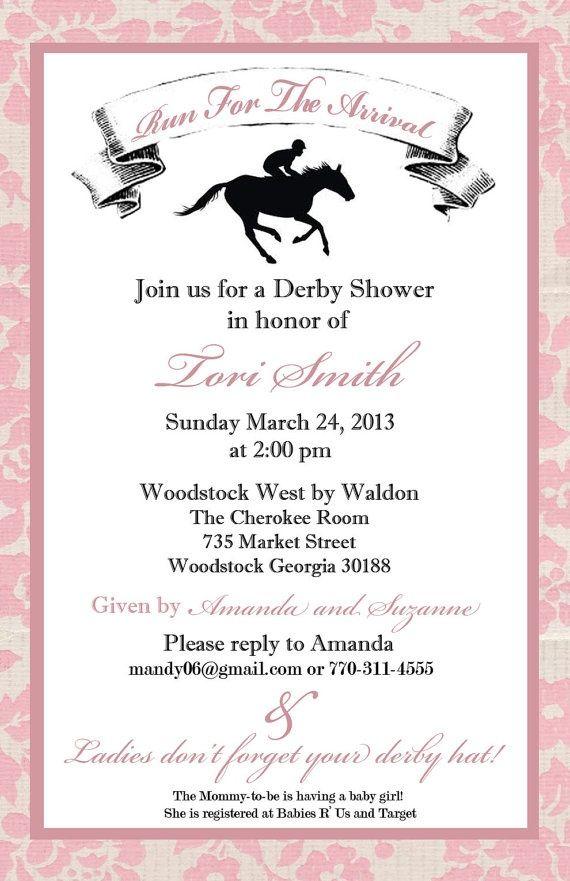 Kentucky Derby Baby Shower Invitations Derby Baby Shower