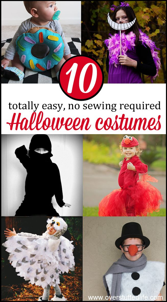 Too busy to make an elaborate Halloween costume for your kids this year? Try one  sc 1 st  Pinterest & 10 No Sew Halloween Costumes Anyone Can Make | Super easy Halloween ...
