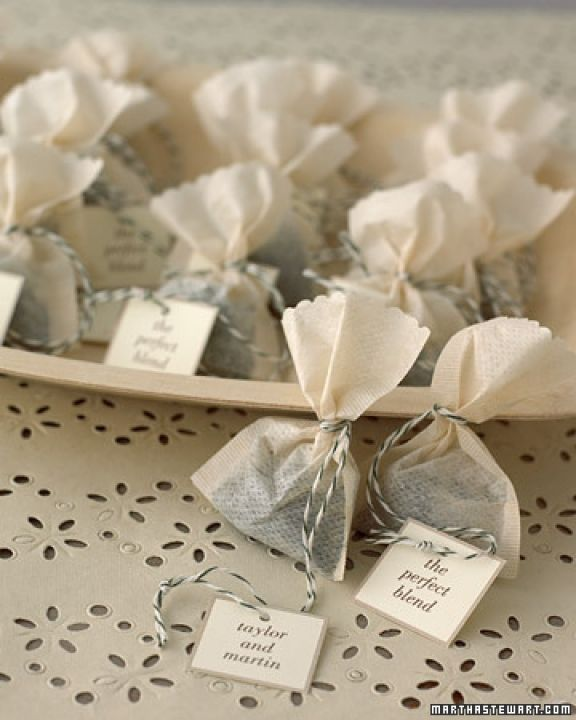 Wedding Favours Tea Really Easy To Make Any Traditional Bag Wrap Up In Your Colour Theme Organza Create Tag And Tie With Thin String