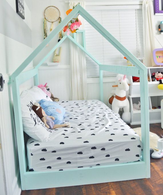 Made In Us Full Size House Bed Frame By Thepinnedpurveyor On Etsy