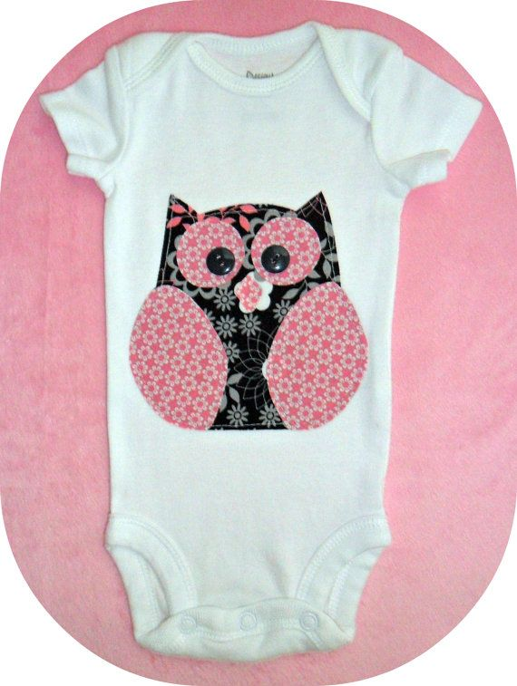 23e2c4814 Baby Owl onesie for a girl...so cute!! | Cute Baby Stuff | Baby owls ...