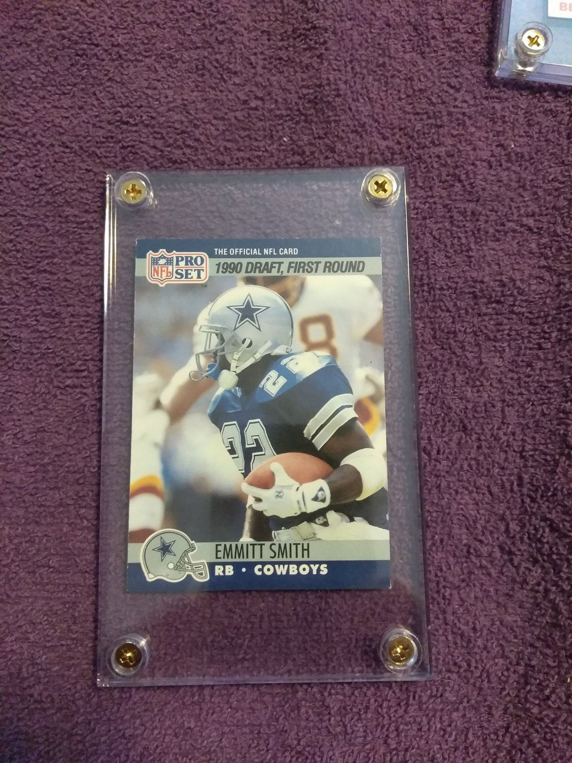 1990 pro set football card emmitt smith rookie by