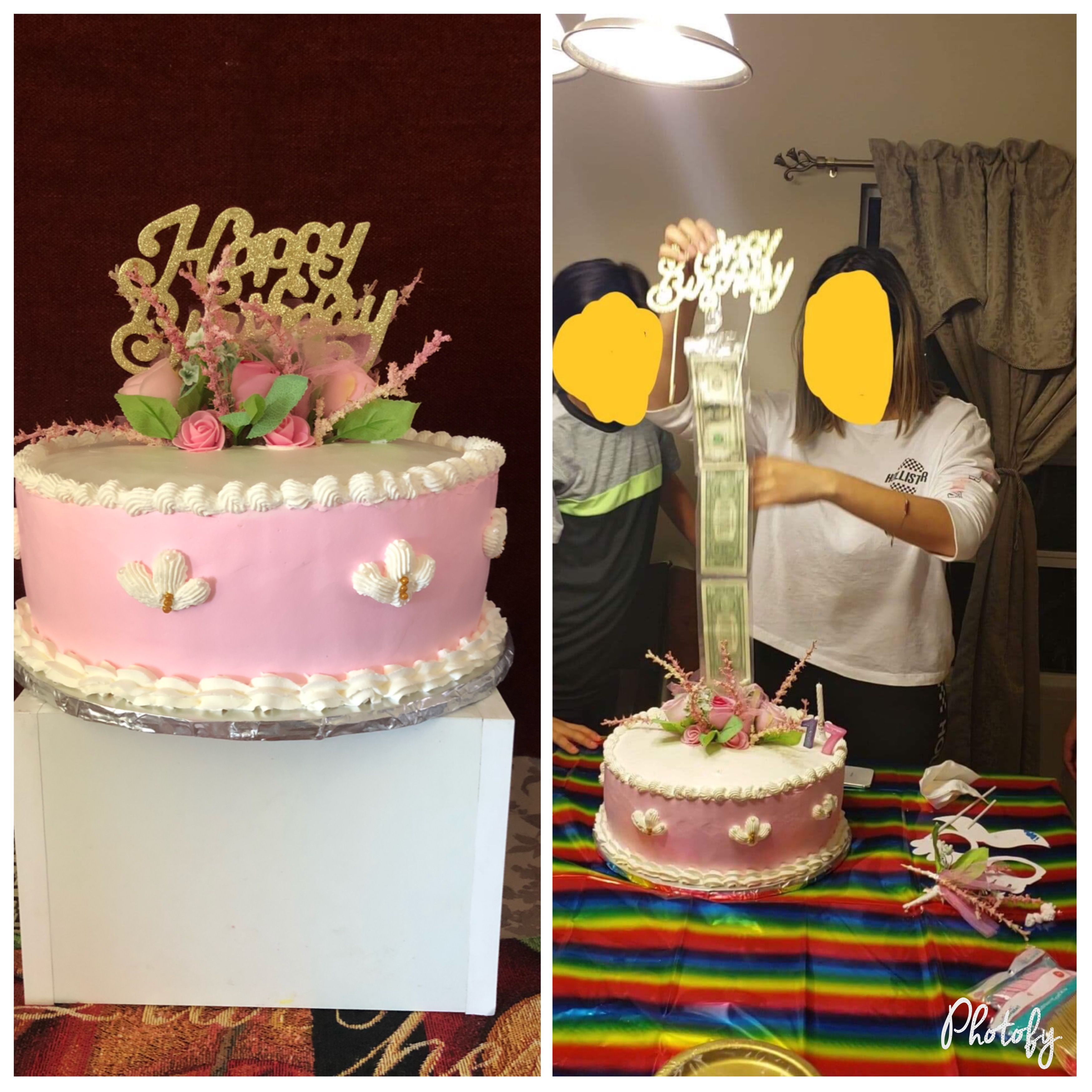 Cake with money inside queremos pastel pasteles