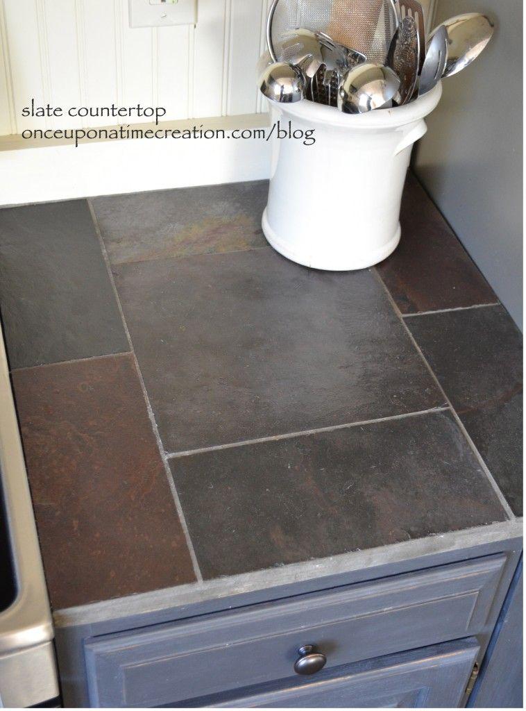 Diy Slate Countertop Slate Countertop Countertops Diy Countertops