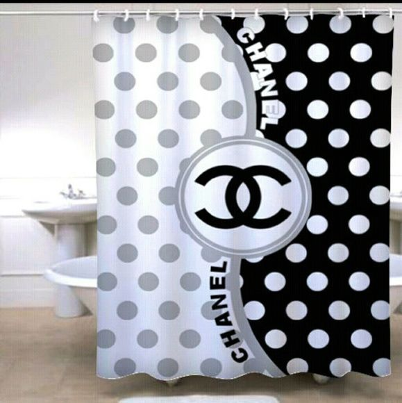 Chanel Shower Curtain Insp Custom Design Shower Curtain ...
