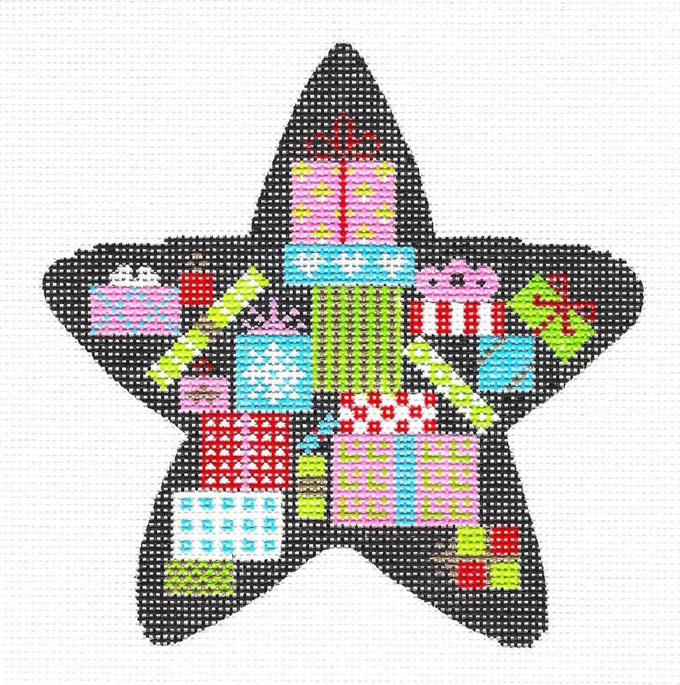 New christmas gifts star handpainted needlepoint ornament canvas