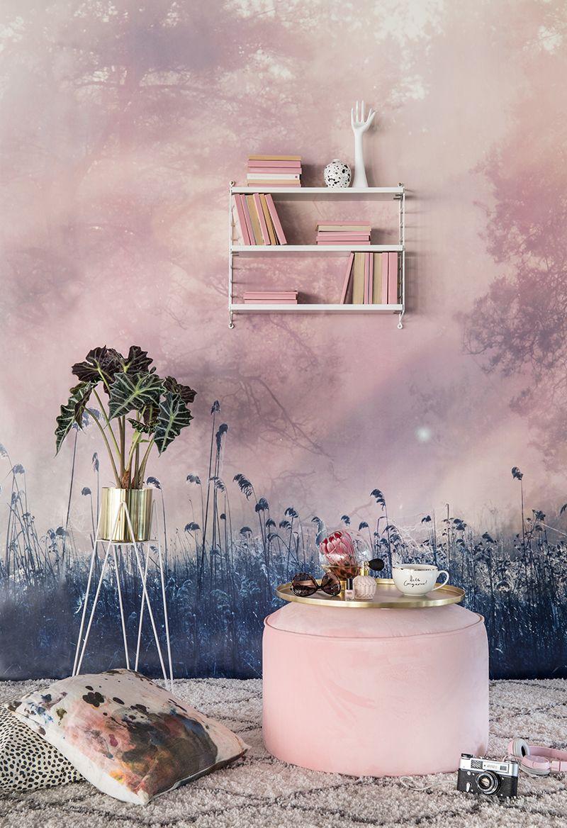 Pink Dawn Moderne Tapeten Tapete Wohnzimmer Schlafzimmer Tapete