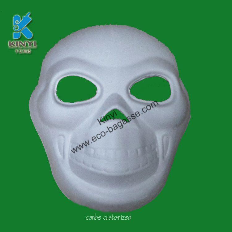 Plain White Masks To Decorate White Skull Masks Paper Pulp Masks White Scary Masks Paper Pulp