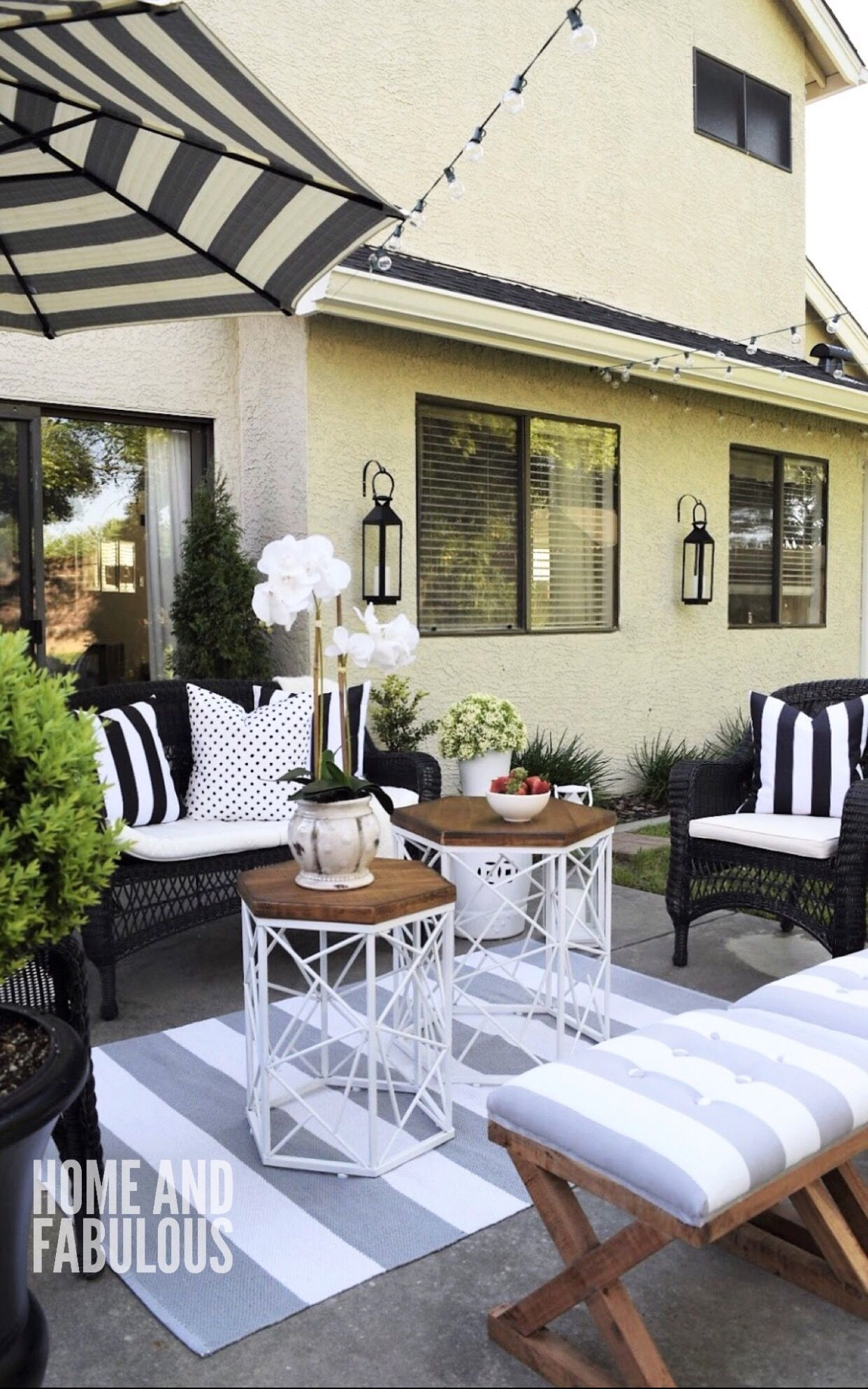 Black White And Grey Outdoor Space Patio Ideas In 2018