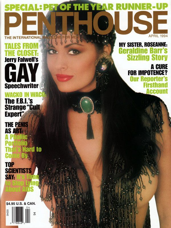 Penthouse April 1994 with Leslie Glass