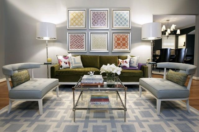 The Gray Walls, Chairs And Rug Bring A Soothing Touch To This Otherwise  Playful Living Room. See More Rooms From Pulp Design Studiosu003eu003e