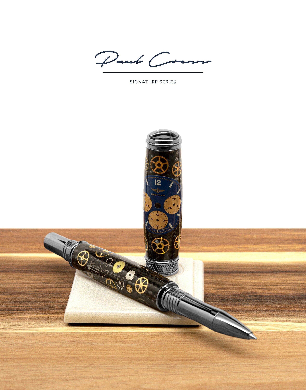 Purple Paua Abalone Shell Twist Ballpoint Pen Paul Cress Signature Beautiful one of a kind gift!