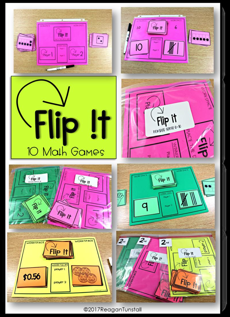 Flip It Math Games Kindergarten math games, 1st grade