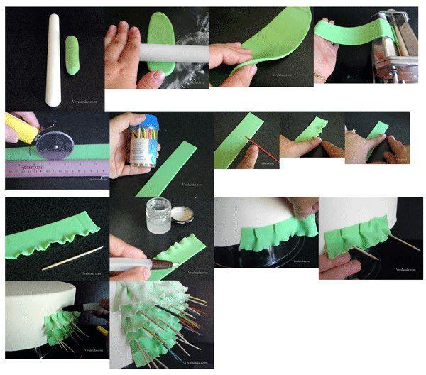 Beautiful ruffles. It is created by Joly Diaz.  http://vivalasugarcake.blogspot.com/2013/03/ruffles-ruffles-and-more-ruffles.html