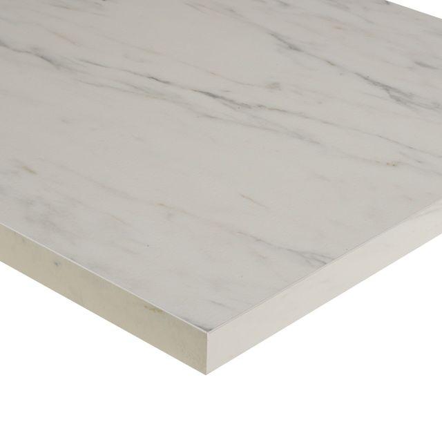 plan de travail decor marbre blanc