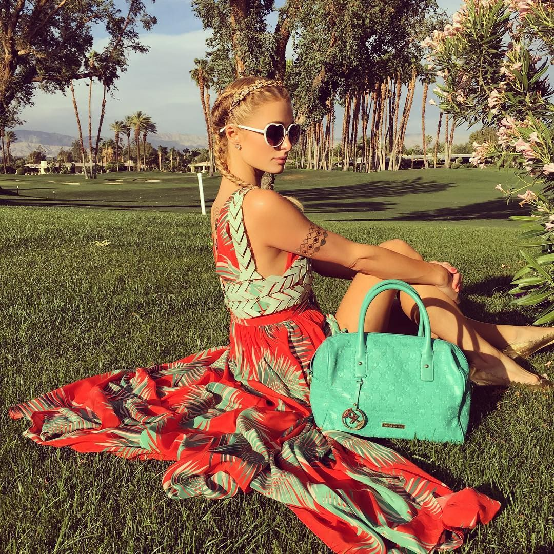 Paris Hilton #FlowerChild in #Paradise.
