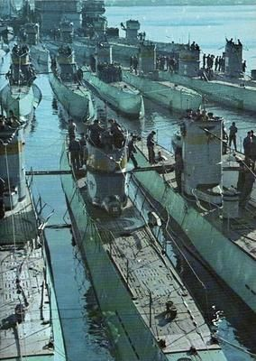 German Submarines did not serve too much of a purpose for the war but were there to piss off everyone because they blew up everything passing them. Us used bombs to make submarines exit.