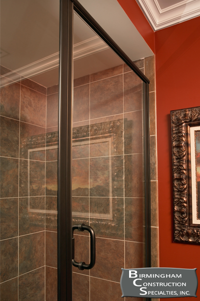 Infinity Frameless Continuous Hinge Door And Inline Panel Featuring Oil Rubbed Bronze Finish 1 4 Clear Gl View More Options Pricing For This