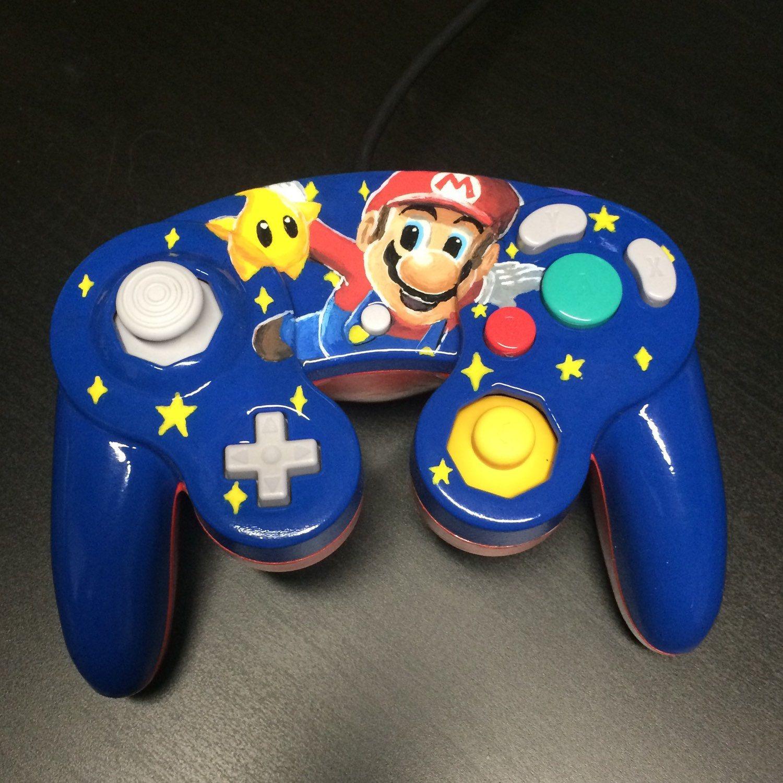 Nintendo Gamecube Mario Mariogalaxy Smashbros Melee Wii Wiiu Gamecube Controller Gamecube Video Game Controller