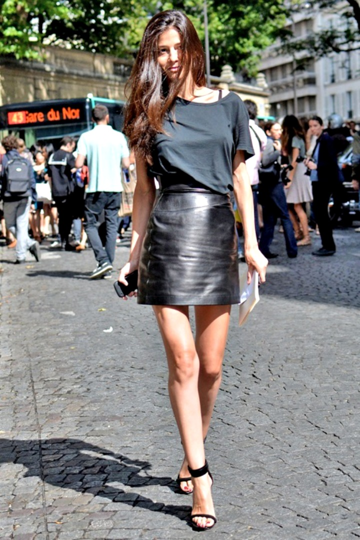 4 Ways To Wear A Black Leather Mini Skirt | Style | Pinterest ...