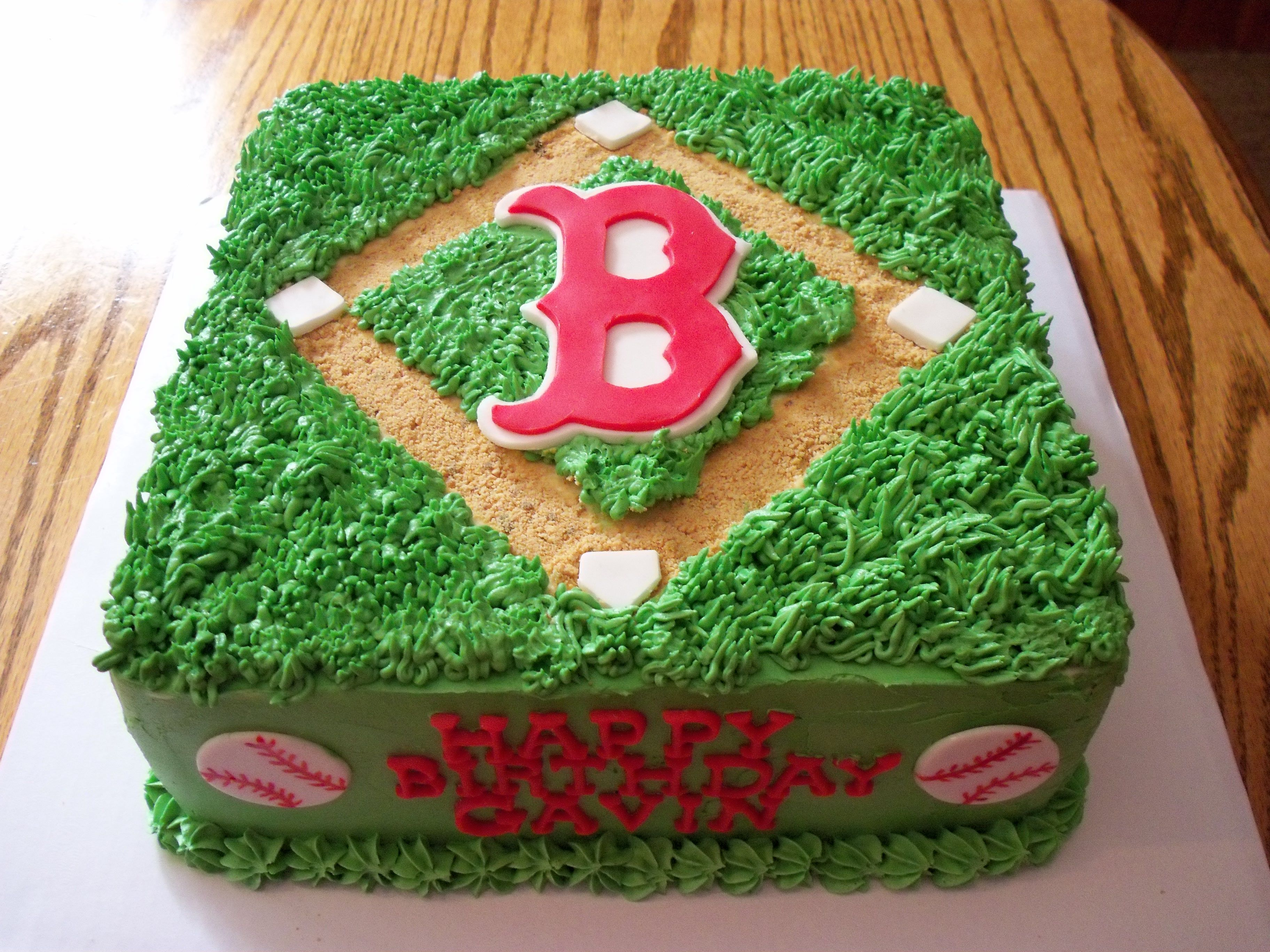 Boston Redsox Cake Boston Red Sox Cake Bday Ideas Pinterest