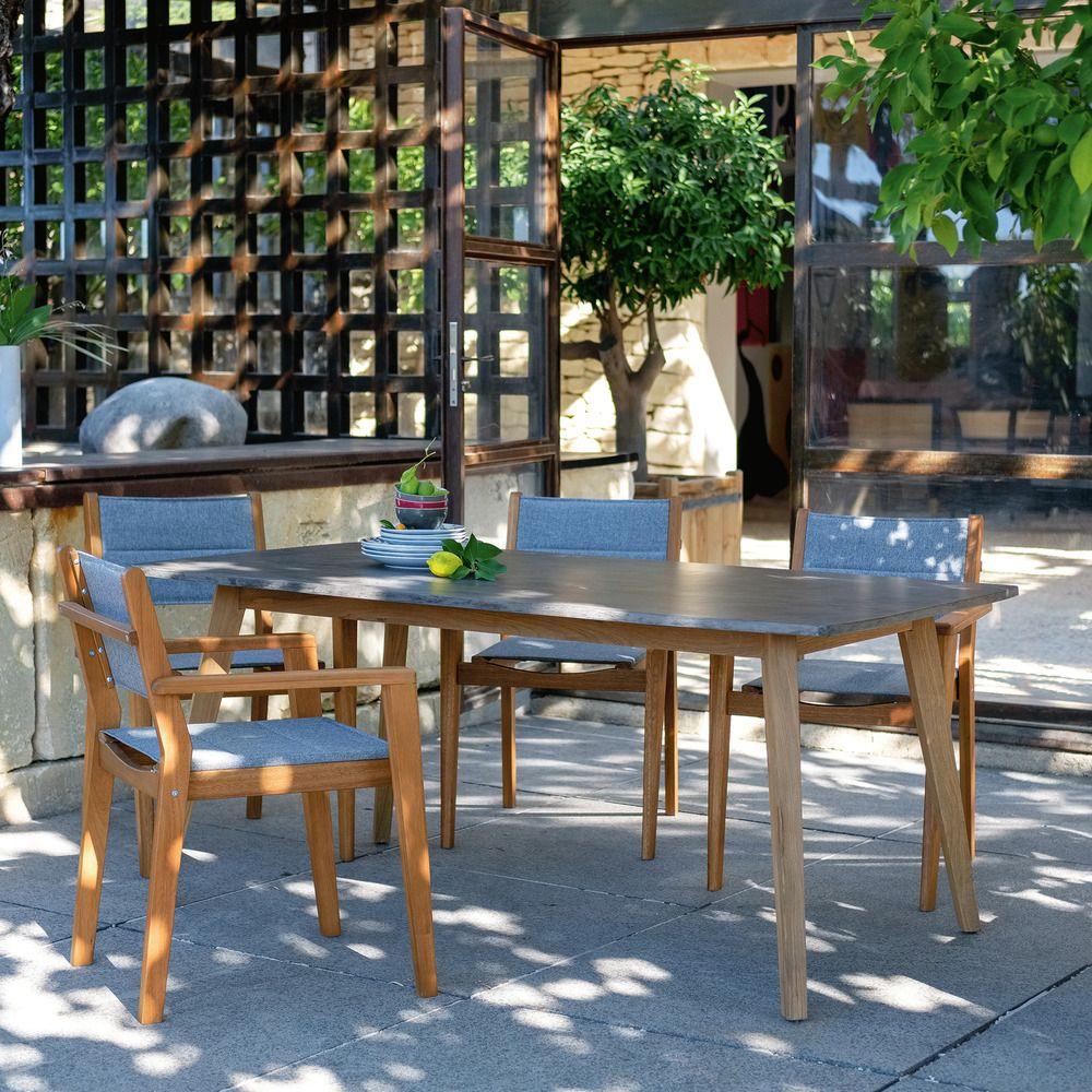 Table de jardin en teck et composite (8 places) - Alinéa ...