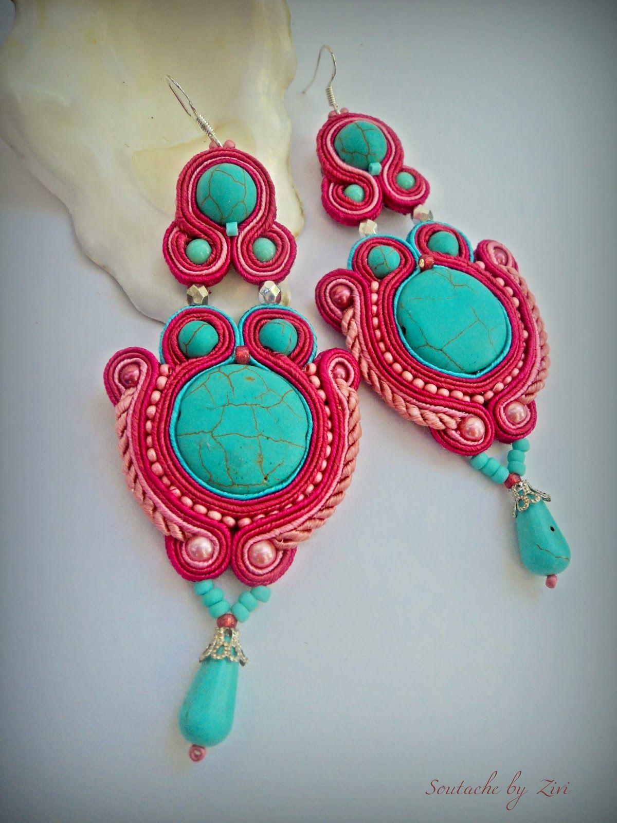 0105ab1ed90c pendientes soutache flamenca