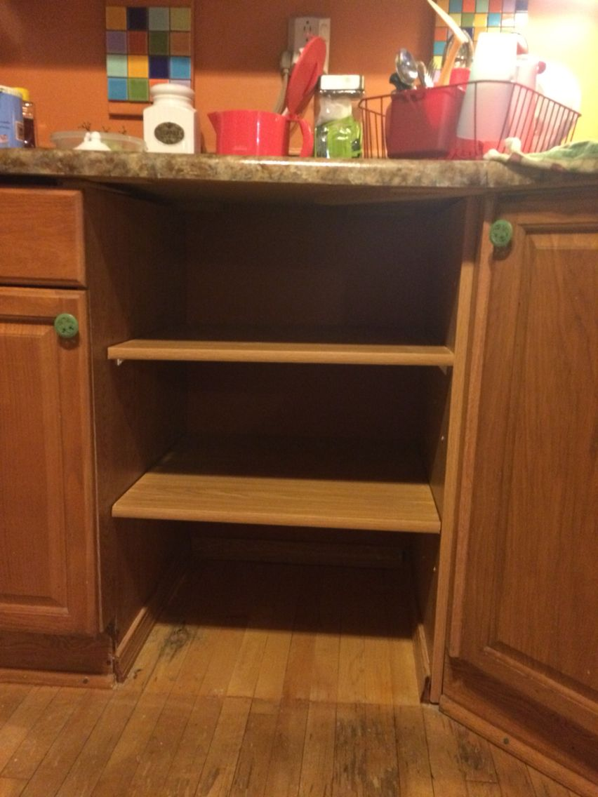 Removal Of Dishwasher And Replaced With Shelving For The