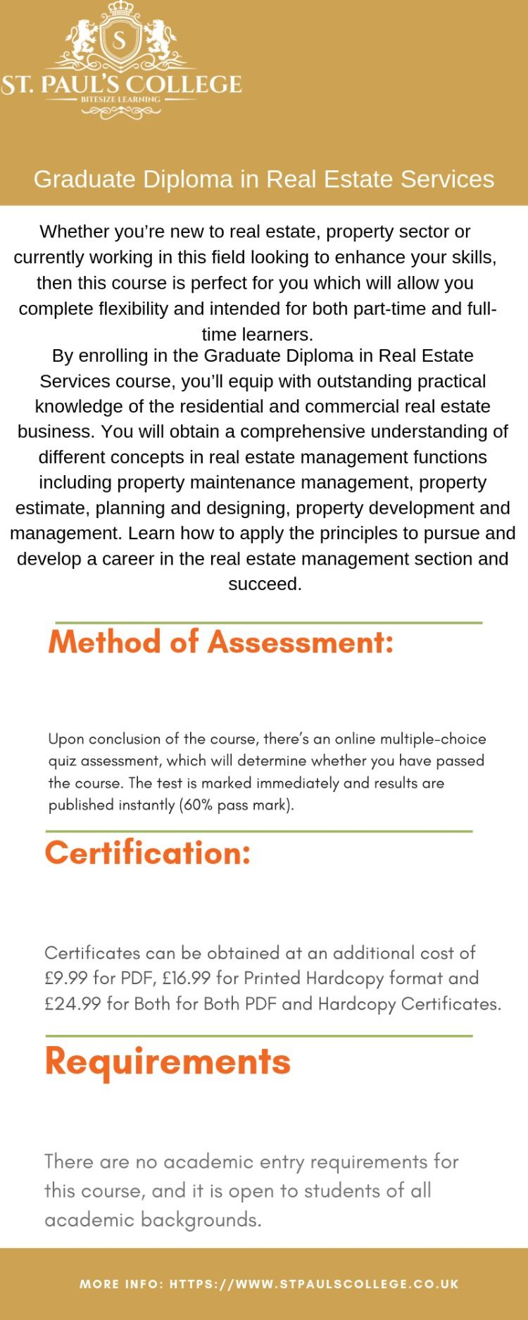 Graduate Diploma in Real Estate Services Real estate