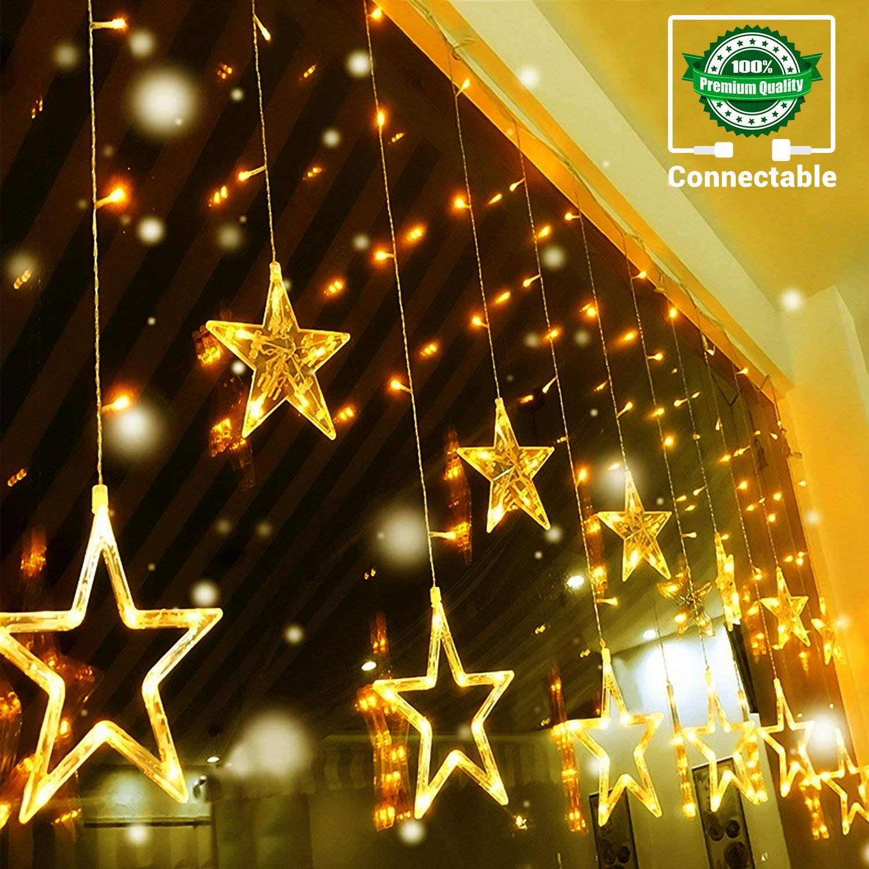 LED Lichtervorhang Weihnachts Außen Party Fenster Licht Beleuchtung Lichterkette