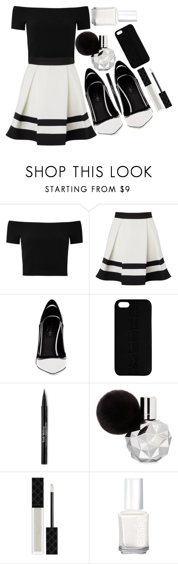 """""""Untitled #60"""" by blue-skies-mmiv ❤ liked on Polyvore featuring Alice + Olivia, Lipsy, Greymer, Maison Takuya, Trish McEvoy, Gucci, Essie, chic, classy and spring2016"""