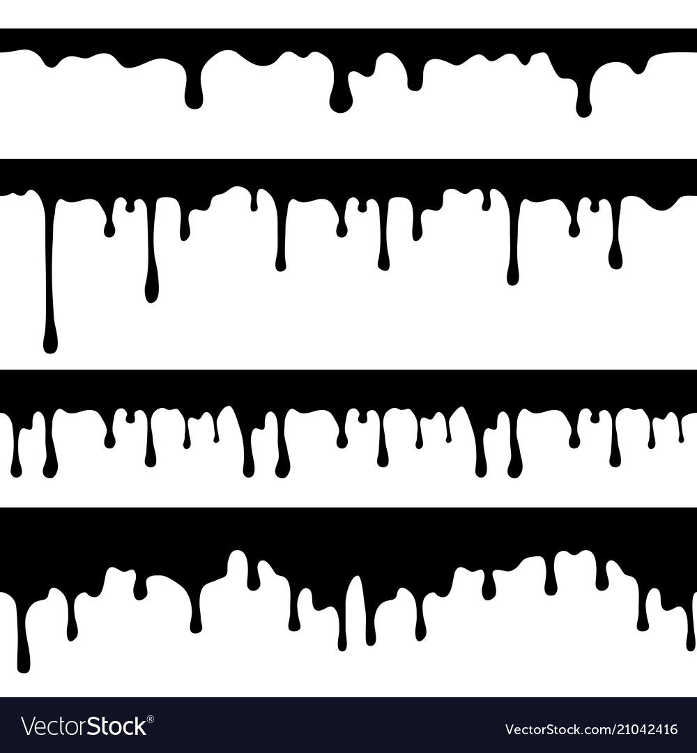 Paint Dripping Black Liquid Or Melted Chocolate Vector Image Affiliate Black Liquid Paint Dripping Ad Dripping Paint Art Drip Painting Drip Design