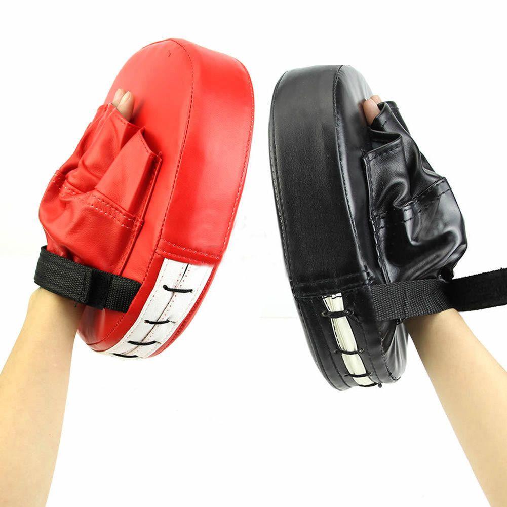 Boxing Mitt Training Target Punch Pad Glove Focus MMA Karate Combat Thai Kick