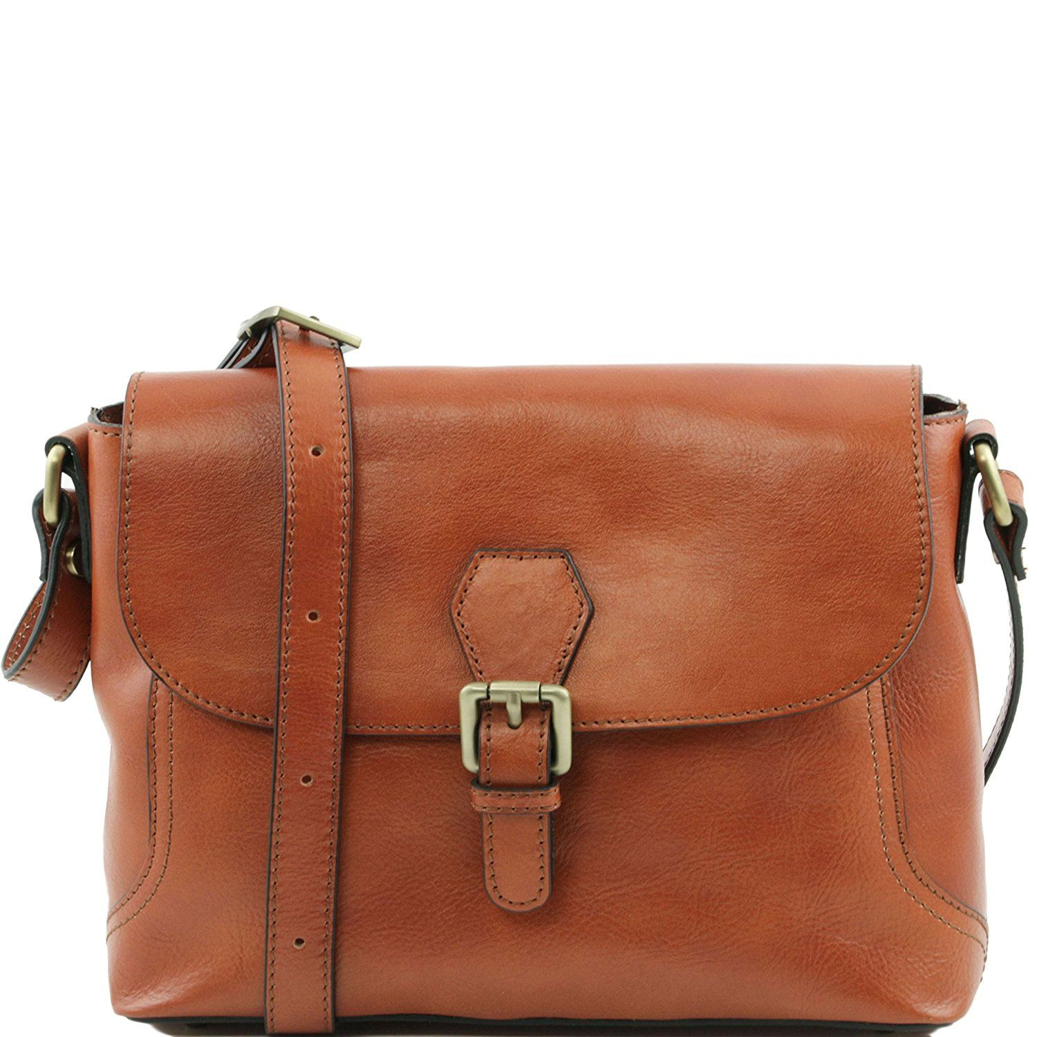Tuscany Leather Jody - Leather shoulder bag with flap Red Leather shoulder bags: Amazon.co.uk: Luggage