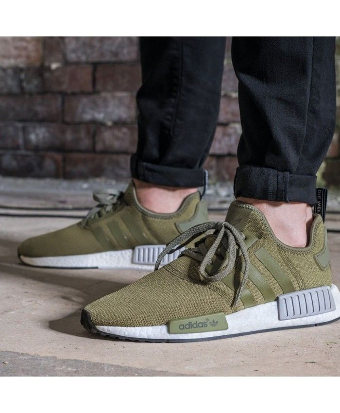 Adidas NMD R1 Cargo Green Olive Trainers UK  21ad90db68a38