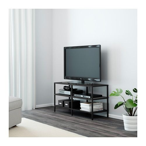 vittsj banc tv brun noir verre pinterest verre ikea banc tv et bancs. Black Bedroom Furniture Sets. Home Design Ideas