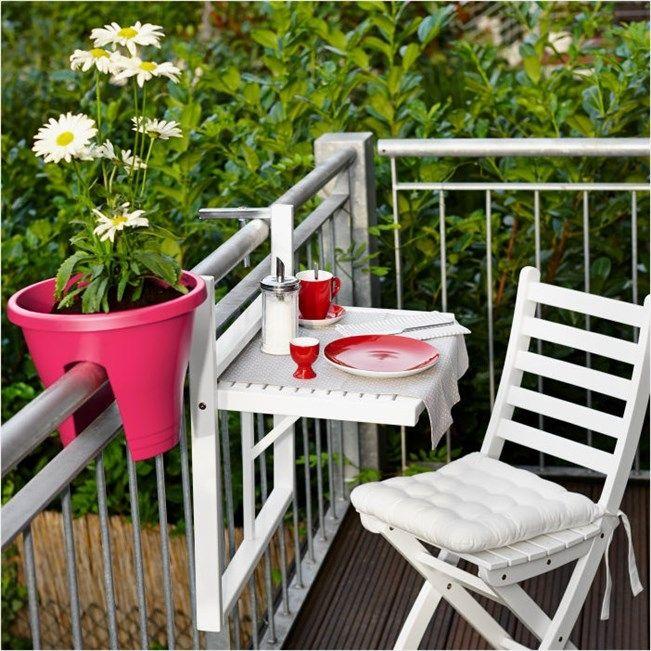 Balcón Jardín Muebles Plegables: Amueblar Balcones Pequeños