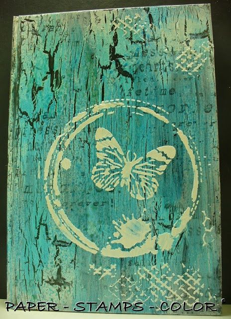 PAPER - STAMPS - COLOR: An altered butterfly book...