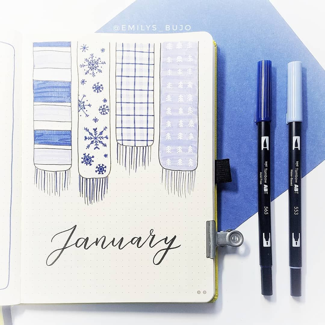 20 Fancy January Cover Page Designs