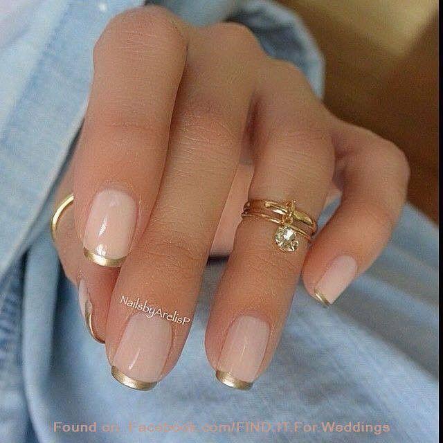 Natural Gold Nails Trendy Nail Art Designs Trendy Nail Art Manicures Designs