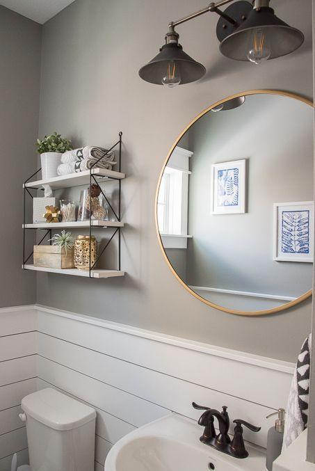 Fresh  Modern Powder Room Reveal  Home Decorating Ideas  Bathroom Powder Room Modern