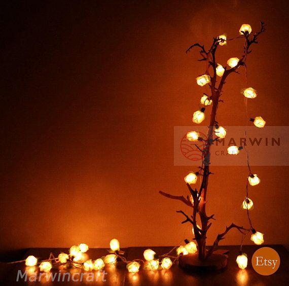 25+ White string lights in living room info