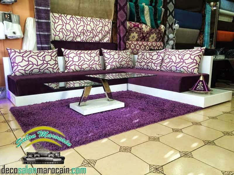 Salon marocain zeina mauve 2015 | interor design | Salon ...